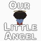 Our Little Angel Sitting on Cloud Black Hair by Chere Lei