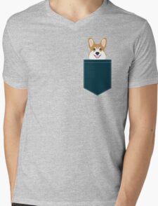 Teagan - Corgi Welsh Corgi gift phone case design for pet lovers and dog people Mens V-Neck T-Shirt