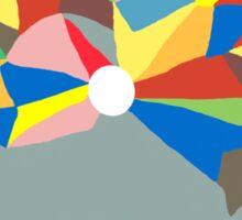Abstract Colour Circle Sticker