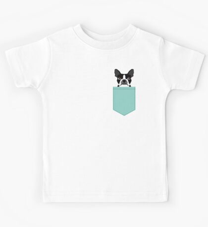 Logan - Boston Terrier pet design with bold and modern colors for pet lovers Kids Tee