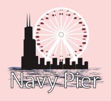 Navy PIer One Piece - Long Sleeve