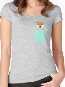 Cassidy - Shiba Inu cute gifts funny dog gifts for cell phone case dog lover gifts for dog person Women's Fitted Scoop T-Shirt
