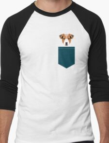 Bailey - Jack Russell Terrier phone case art print gift for dog people Jack Russell Terrier owners Men's Baseball ¾ T-Shirt