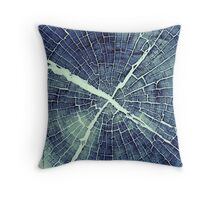 Abstract Bark Throw Pillow