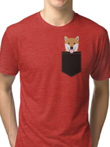 Indiana - Shiba Inu gift design for dog lovers and dog people Tri-blend T-Shirt