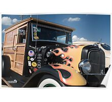1928 Ford Woody Delivery Truck Poster