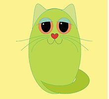 CAT CHARTREUSE ONE by Jean Gregory  Evans