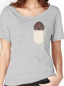 Piper - Dachshund, weener dog, wiener dog, pet portrait, sausage dog, pet Women's Relaxed Fit T-Shirt