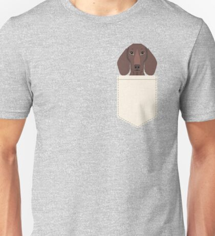 Piper - Dachshund, weener dog, wiener dog, pet portrait, sausage dog, pet Unisex T-Shirt