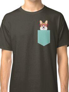 Teagan Glasses Corgi cute puppy welsh corgi gifts for dog lovers and pet owners love corgi puppies Classic T-Shirt