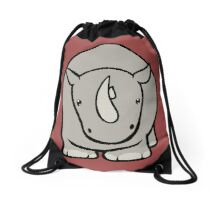 Wildlife Chibi - White Rhino Drawstring Bag