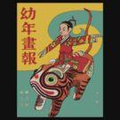 Samurai Riding A Tiger by Zehda