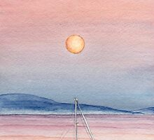 Sailing Under A Summer Moon by RavenHartStudio