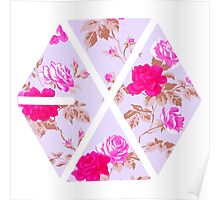 EXO - Floral Poster