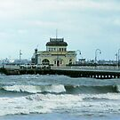 St. Kilda Pier in Storm by Alison Howson