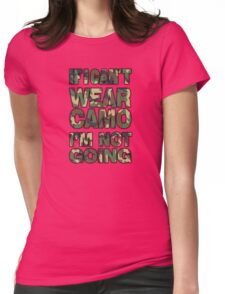 Camo Womens Fitted T-Shirt