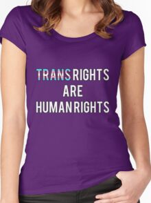 Trans Rights are Human Rights Women's Fitted Scoop T-Shirt