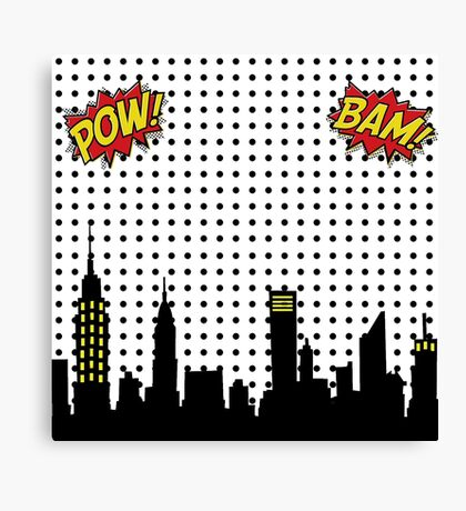Superhero Scape Canvas Print