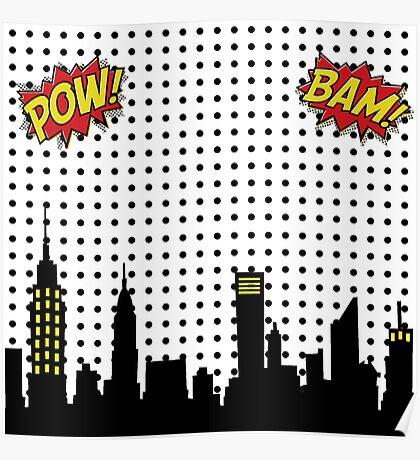 Superhero Scape Poster