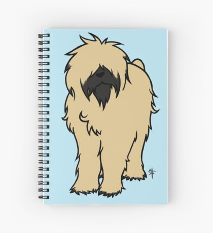 Bouvier des Flandres - Fawn Spiral Notebook