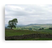 Over the top to Colton, Lake District, Cumbria. Canvas Print