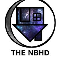 The NBHD - Galaxy w/ Crescent Moon by agShop