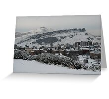 Edinburgh's snow covered hills Greeting Card