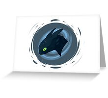 toothless badge Greeting Card
