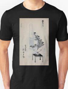 Yenshu ryu ikebana hiak bin no zu shiki konzatsu Flower arrangement in the Enshu style V2 1897 0035 T-Shirt