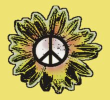Sunflower Peace Sign 1 by Jim LoPiano
