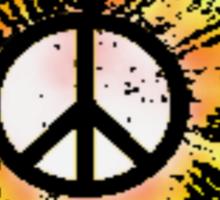 Sunflower Peace Sign 1 Sticker
