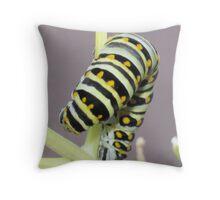 Caterpillar Yoga Throw Pillow