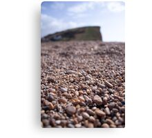 Lyme Regis Gravel Canvas Print