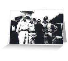 Grandfather and Military Friends Greeting Card