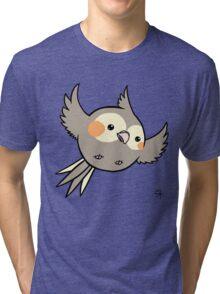 Cinnamon Pearl Cockatiel Tri-blend T-Shirt
