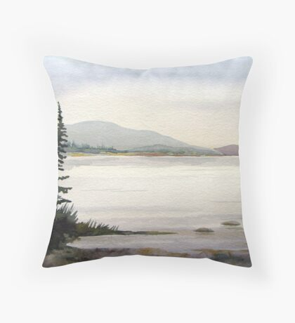 Open bay at Hattie Cove Pukaskwa National Park Ontario Throw Pillow
