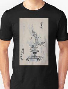 Yenshu ryu ikebana hiak bin no zu shiki konzatsu Flower arrangement in the Enshu style V1 1897 0029 T-Shirt