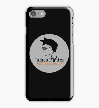 James Potter Defense Squad- Black background Option iPhone Case/Skin