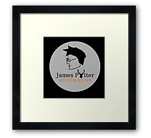 James Potter Defense Squad- Black background Option Framed Print