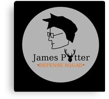 James Potter Defense Squad- Black background Option Canvas Print