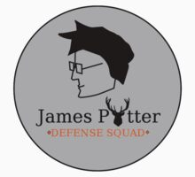 James Potter Defense Squad- Black background Option Kids Tee