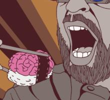 Brain Sushi bw Sticker