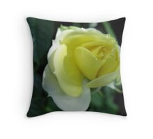 In the Lemon Softness of Petals Throw Pillow