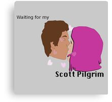 Waiting for my Scott Pilgrim Canvas Print