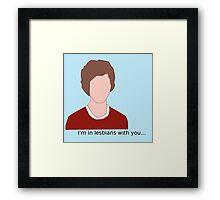 Scott Pilgrim- I'm in lesbians with you Framed Print