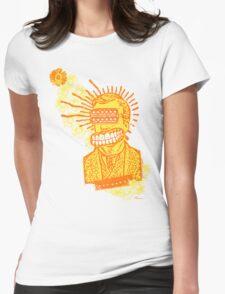 Happy Humbucker Head Womens Fitted T-Shirt