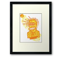 Happy Humbucker Head Framed Print