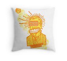 Happy Humbucker Head Throw Pillow
