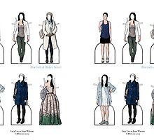 Joan Watson Paper Dolls by bluebell42