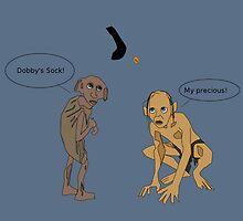Dobby Vs. Gollum by GeekyToGo
